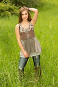 Littleton Senior Girl in field