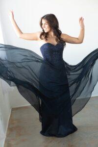 Littleton Senior Girl with prom dress