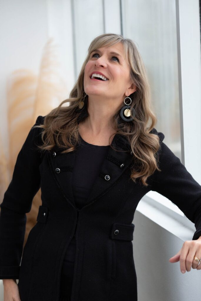 Personal Branding photo of a woman looking up